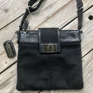 NWOT Tignanello Black Canvas Utility Crossbody